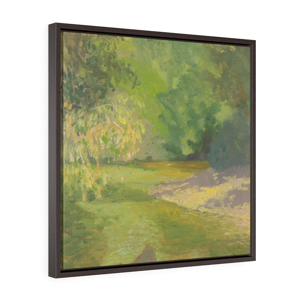 Wissahickon Creek Square Framed Canvas - Various Sizes