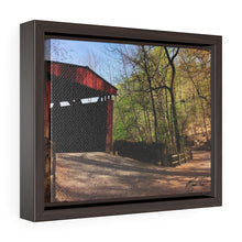Load image into Gallery viewer, Spring Covered Bridge Framed Canvas - Various Sizes