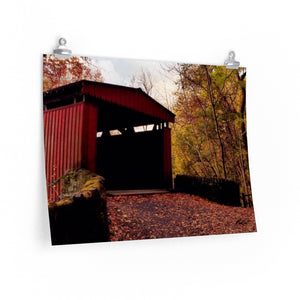Fall Covered Bridge Print-Various Sizes