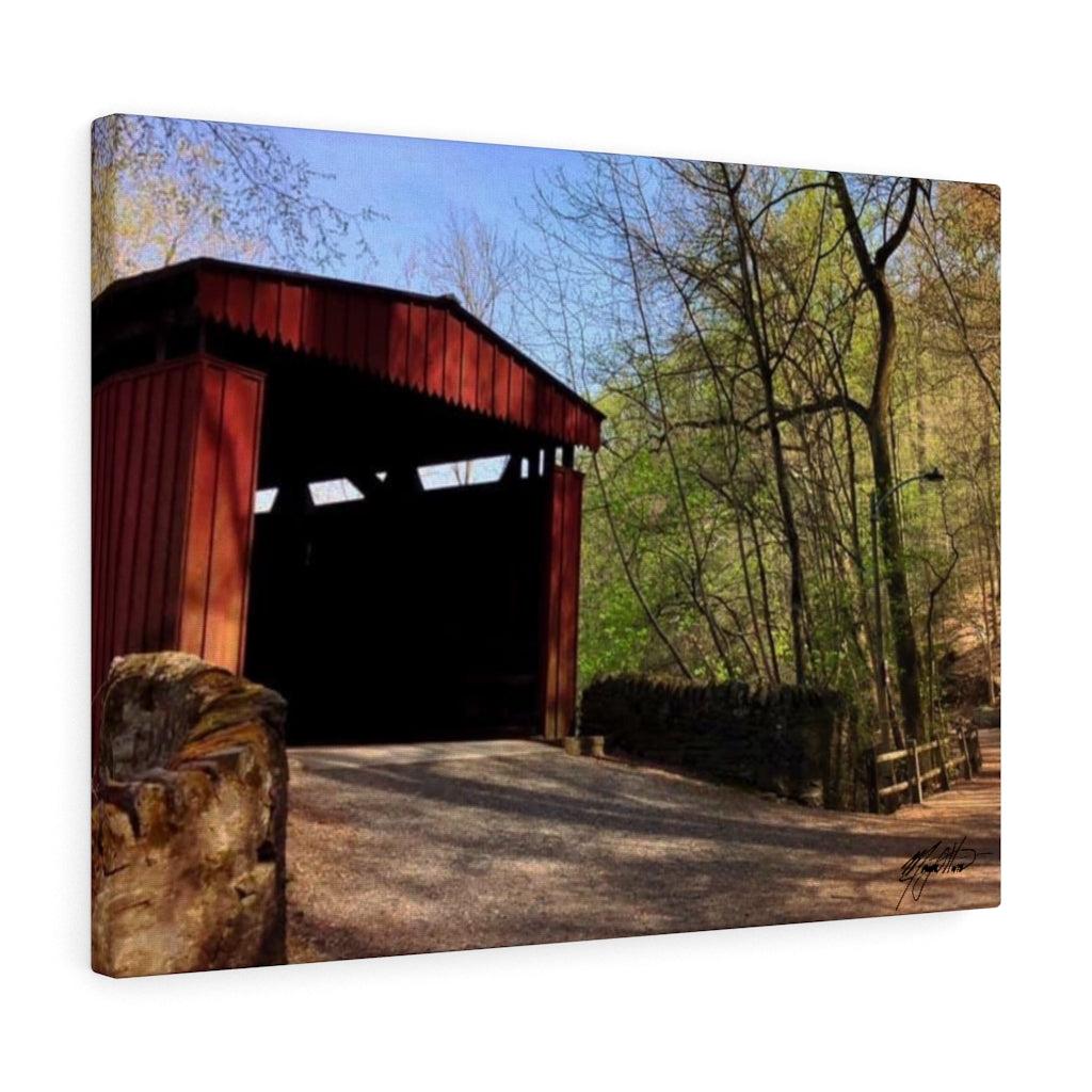 Spring Covered Bridge Canvas - Various Sizes