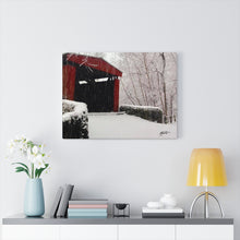 Load image into Gallery viewer, Winter Covered Bridge Canvas - Various Sizes