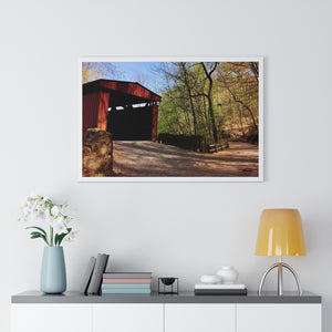 Spring Covered Bridge Framed Print- Various Sizes