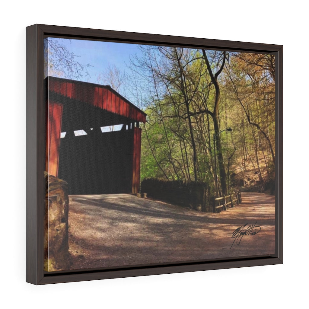 Spring Covered Bridge Framed Canvas - Various Sizes