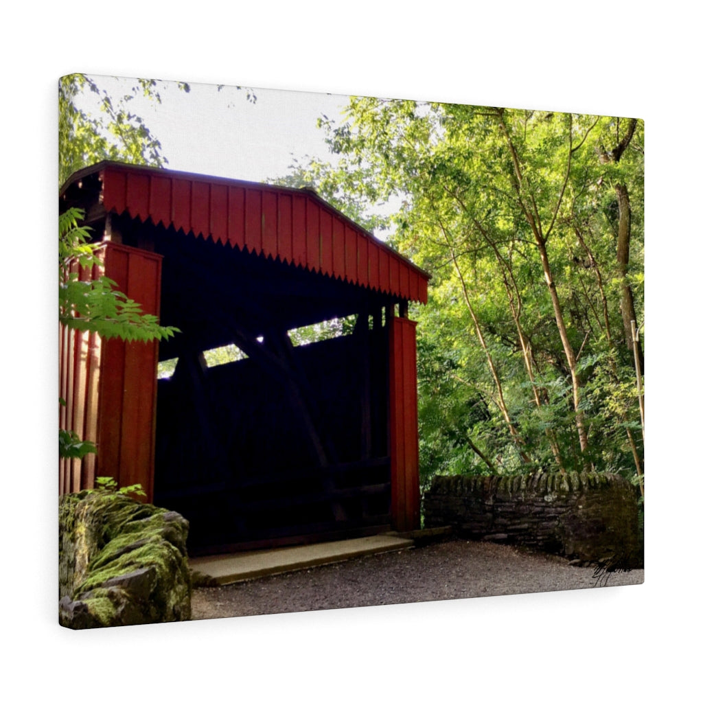 Summer Covered Bridge Canvas - Various Sizes