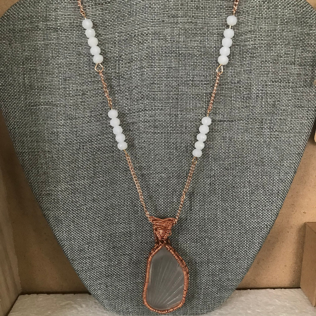 Weathered Glass Necklace