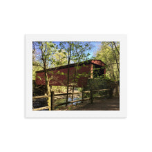Load image into Gallery viewer, Covered Bridge Framed Print - Various Sizes