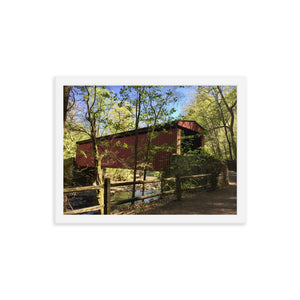 Covered Bridge Framed Print - Various Sizes