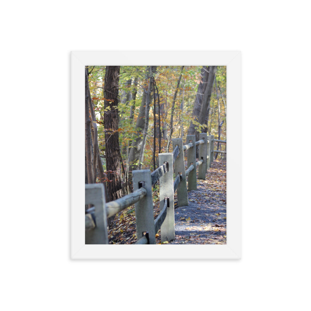 Forbidden Drive Fence Framed Print - Various Sizes