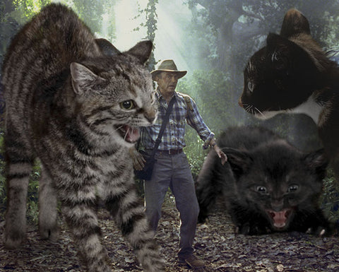 Jurassic Park replaced with cats