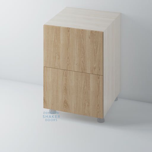 Oak Flat Panel Kitchen Drawer for IKEA METOD