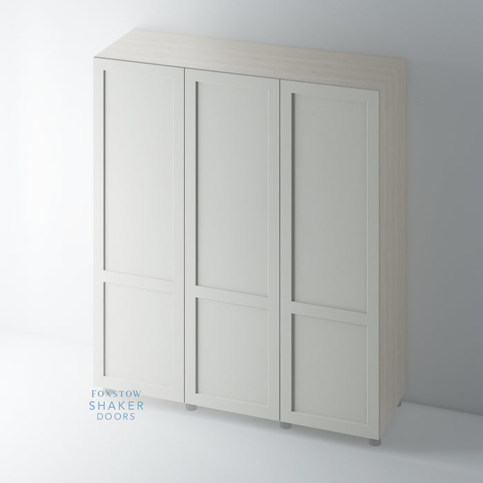 Painted Shaker 2 Panel Wardrobe Door