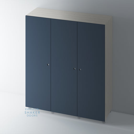 Painted Flat Panel Disc Handle Wardrobe Door