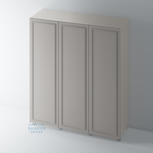 Painted Flat Panel Wardrobe Doors with Reed Mouldings for IKEA PAX