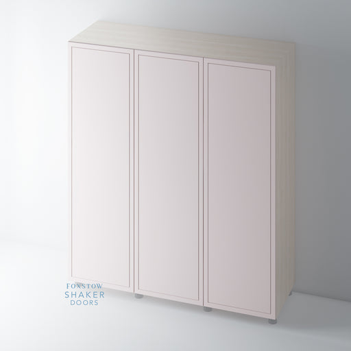 Painted Wardrobe Doors Imitation Frame for IKEA PAX
