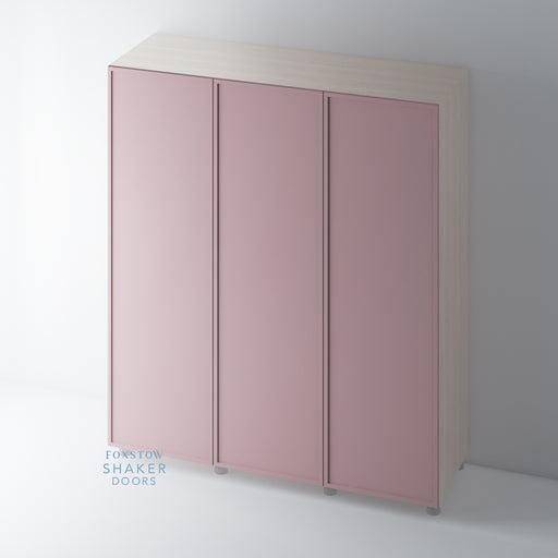 Painted Slimline Single Panel Shaker Wardrobe Door
