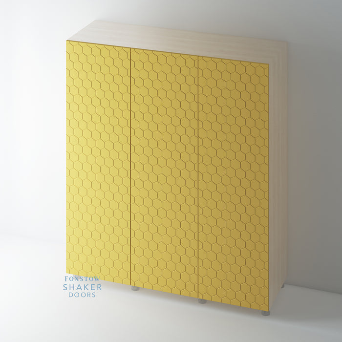 Patterned Flat Panel Wardrobe Door 'WASPS' for IKEA PAX