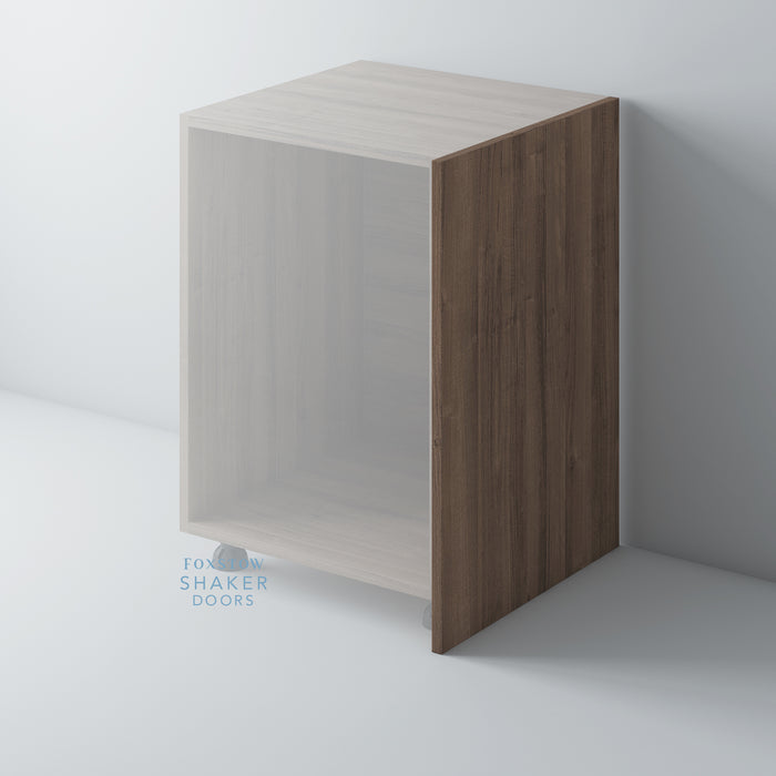 Walnut Veneer Flat Kitchen End Panels for IKEA METOD