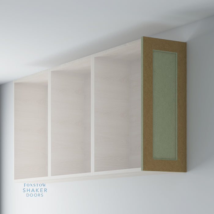 Bare Shaker Kitchen Wall End Panel with Ovolo Moulding for IKEA METOD
