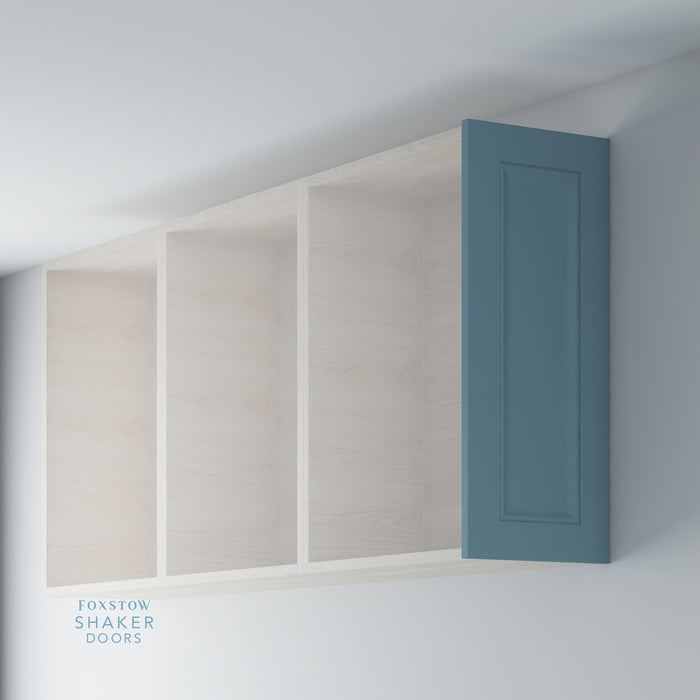 Painted Shaker Kitchen Wall End Panels with Ogee Moulding for IKEA METOD