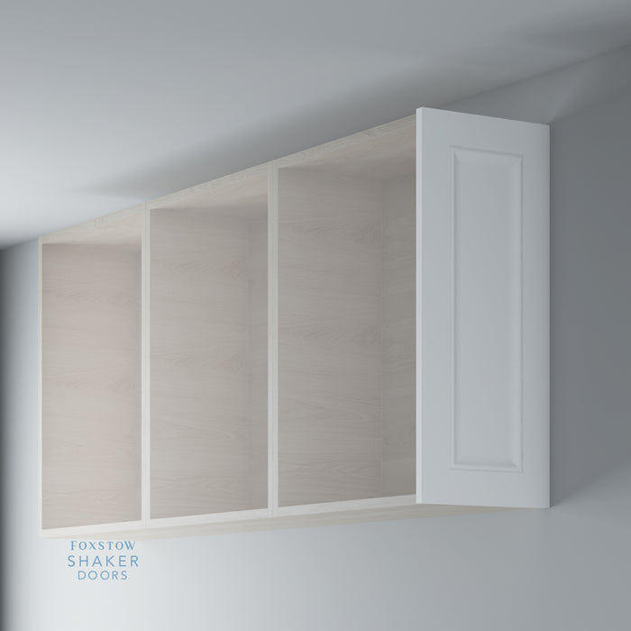 Primed Shaker Kitchen Wall End Panels with Ogee Mouldings for IKEA METOD