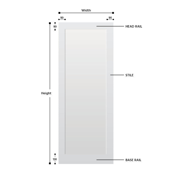 Single Panel Primed MDF Shaker Door