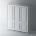 Primed 2 Panel Shaker Stepped Panel Wardrobe Doors for IKEA PAX