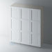 Primed 3 Panel Shaker Ogee Wardrobe for IKEA PAX