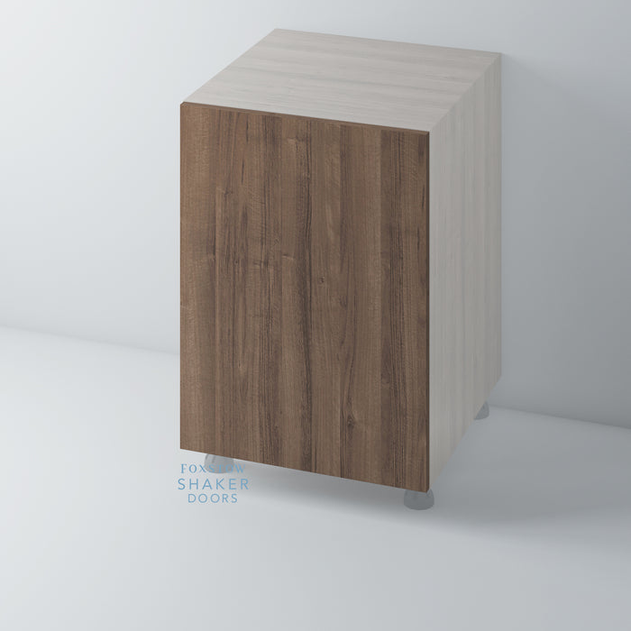 Walnut Veneer Flat Panel Kitchen Doors for IKEA METOD