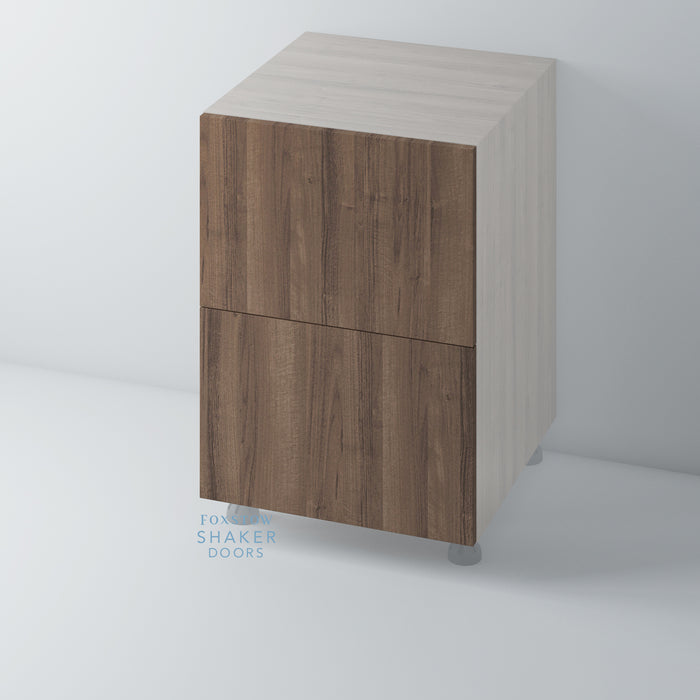 Walnut Veneer Flat Panel Kitchen Drawers for IKEA METOD