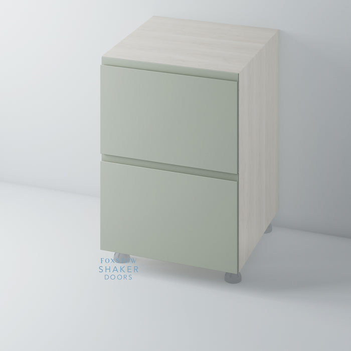Painted Flat Panel J Groove Kitchen Drawer for IKEA METOD