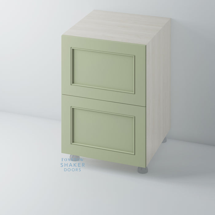 Painted Shaker Kitchen Drawer with Staff Bead Mouldings for IKEA METOD