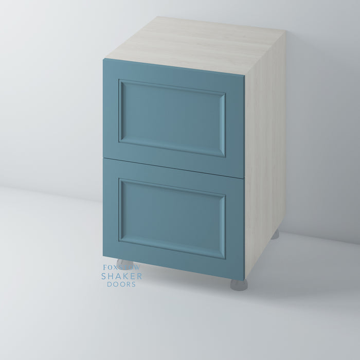 Painted Shaker Kitchen Drawer with Ogee Mouldings for IKEA METOD