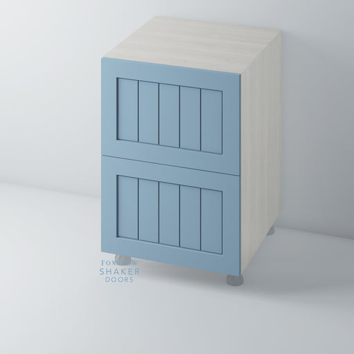 Painted Shaker Kitchen Drawer with Tongue & Groove Panel for IKEA METOD