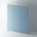 Patterned Flat Panel Wardrobe Door 'QUINS' for IKEA PAX