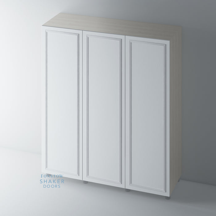 Primed Flat Wardrobe Doors with Reed Moulding for IKEA PAX