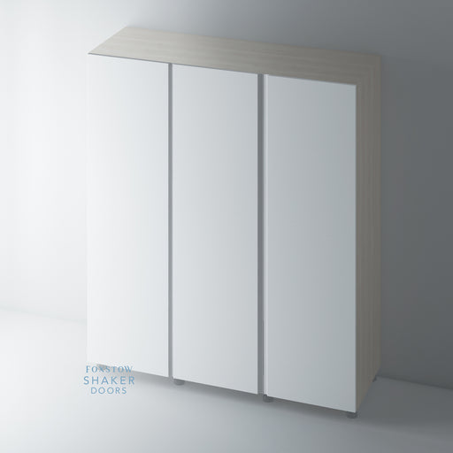 Primed Flat Panel J Groove Wardrobe Door for IKEA PAX
