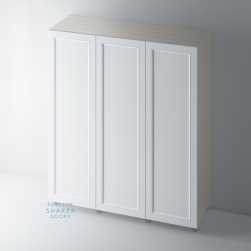 Primed Shaker Wardrobe Door with Ogee Mouldings