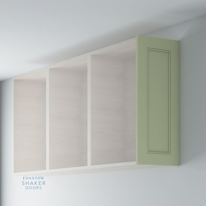 Painted Shaker Kitchen Wall End Panels With Staff Bead Moulding for IKEA METOD
