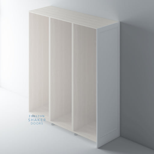 Primed Shaker Style Tall End Panels with Ogee Mouldings for IKEA PAX