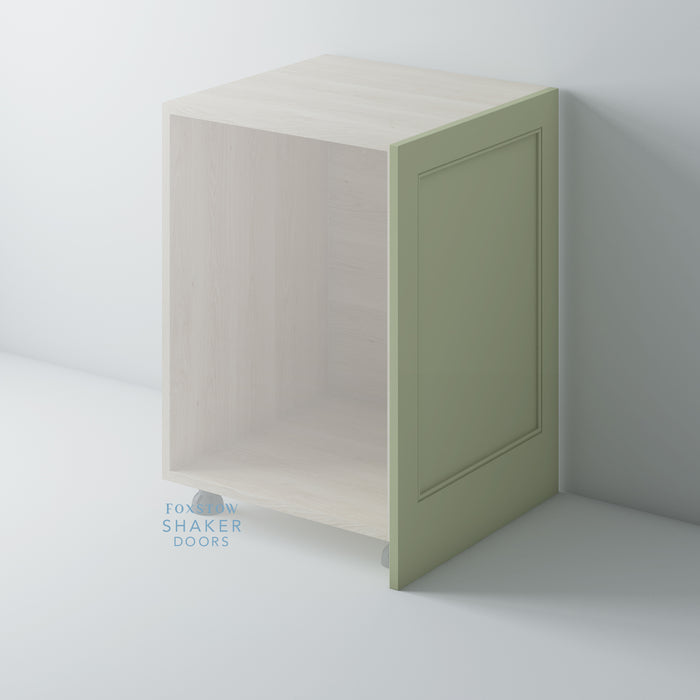 Painted Shaker Kitchen End Panels With Staff Bead Moulding for IKEA METOD