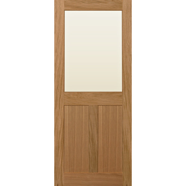 Glazed oak shaker door