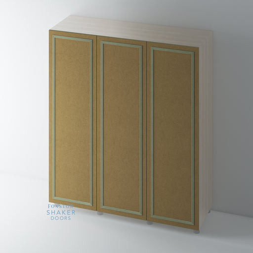 Bare Flat Panel Wardrobe Doors with Reed Moulding for IKEA PAX