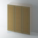 Bare Flat Reed Moulding Wardrobe Door