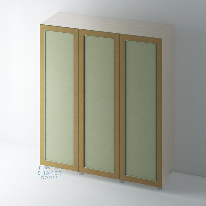 Bare Shaker Style Wardrobe Door with Staff Bead Mouldings