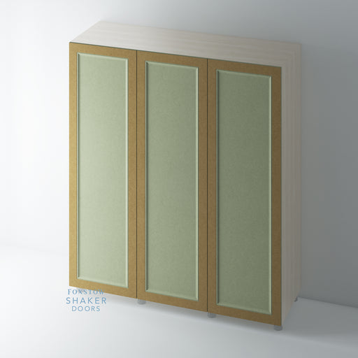 Bare Single Panel Shaker Wardrobe Door with Ogee Moulding