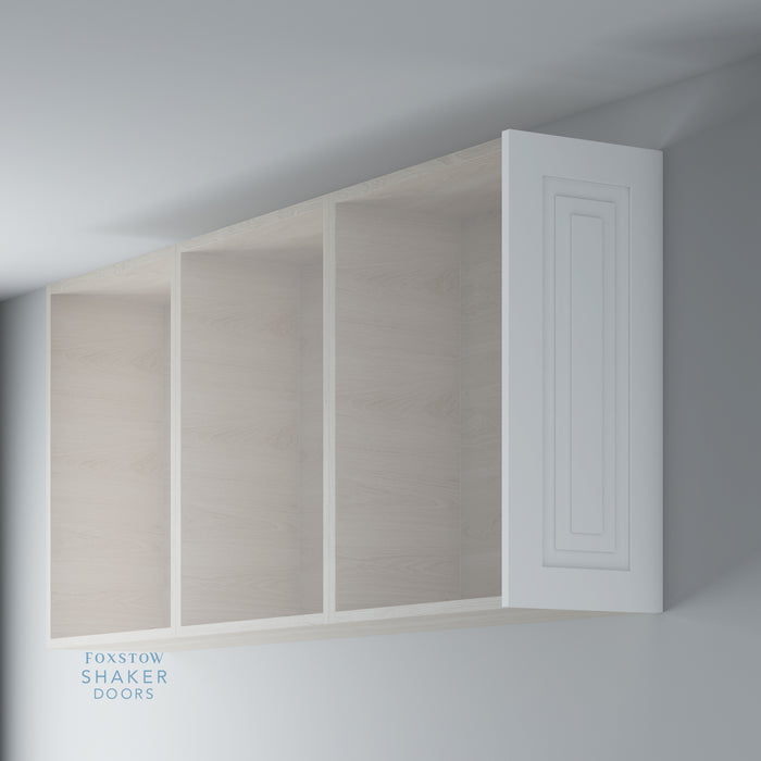 Primed Shaker Stepped Panel Kitchen Wall End Panels for IKEA METOD