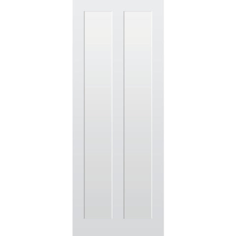 2 Panel Vertical Primed Tulipwood Shaker Door