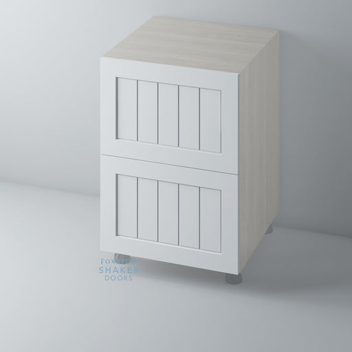 Primed Shaker Kitchen Drawer with Tongue & Groove Panel