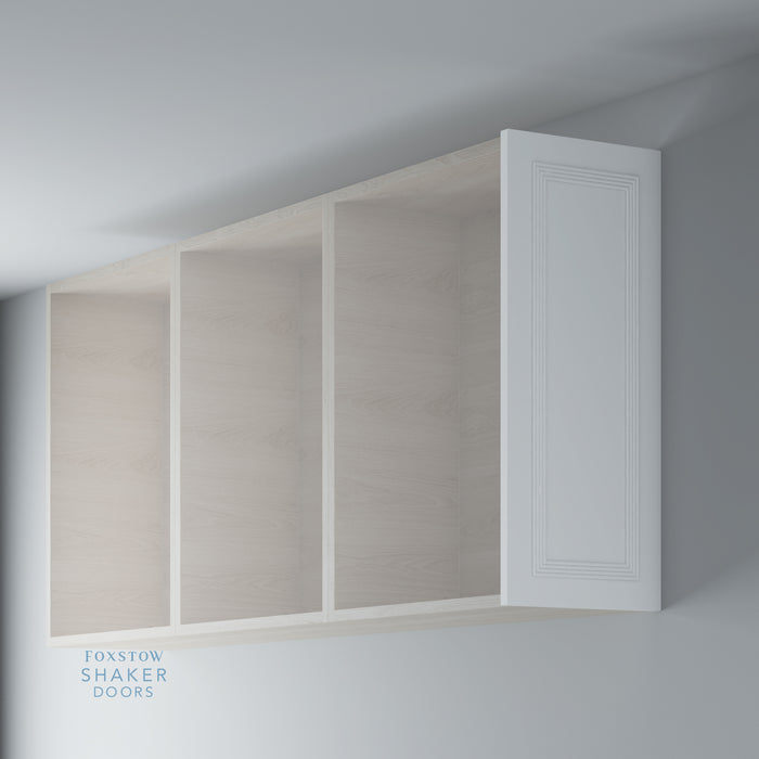 Primed Flat Kitchen Wall End Panels with Reed Moulding for IKEA METOD