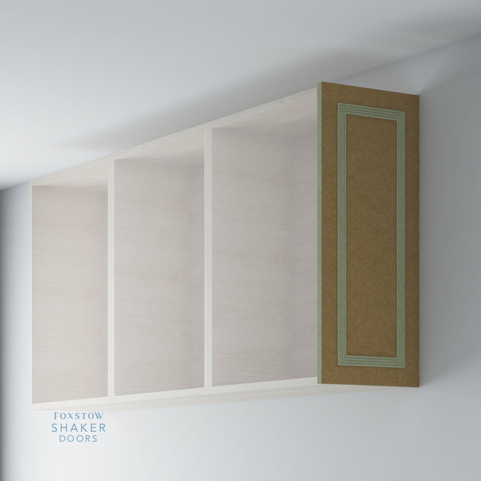 Bare Flat Kitchen Wall End Panels with Reed Moulding for IKEA METOD